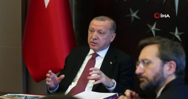 Cumhurbaşkanı Erdoğan video konferansla Covid-19 hastaları ile görüştü