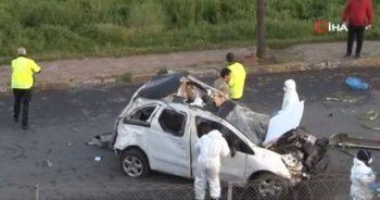 TEM'de bariyerleri aşan araç yan yola savruldu: 1 ölü 1 ağır yaralı