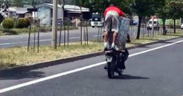 Motosikletle dev varil taşıdılar