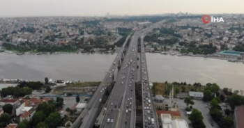Normalleşme sonrası Haliç Köprüsü'de trafik yoğunluğu arttı