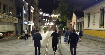 Sokağa çıkma kısıtlaması sona erdi, İstiklal Caddesi havadan görüntülendi