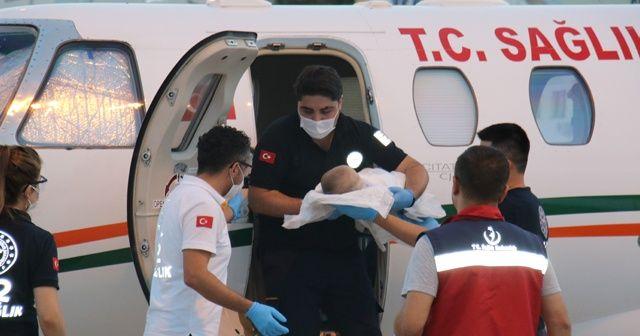Doğuştan kalp damarları ters olan bebek tedavi için Ankara'ya getirildi