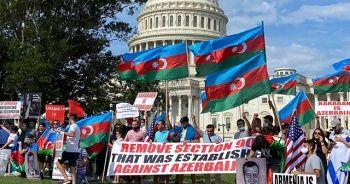 ABD Kongresi önünce Azerbaycanlılardan Ermenistan karşıtı protesto