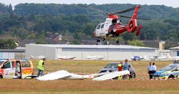 Almanya'da genç pilot planörle yere çakıldı