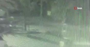 Genç kıza çarpıp kaçan motosikletli güvenlik kamerasında