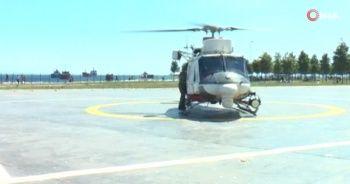 İstanbul sahillerinde helikopterli denetim