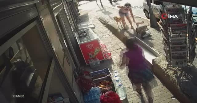 İstanbul'un göbeğinde kadına silahlı saldırı dehşeti kamerada