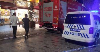 İstiklal Caddesi'nde giyim dükkanında korkutan yangın
