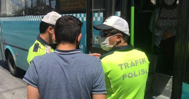 Polisin durdurduğu otobüsten 48 yolcu çıktı