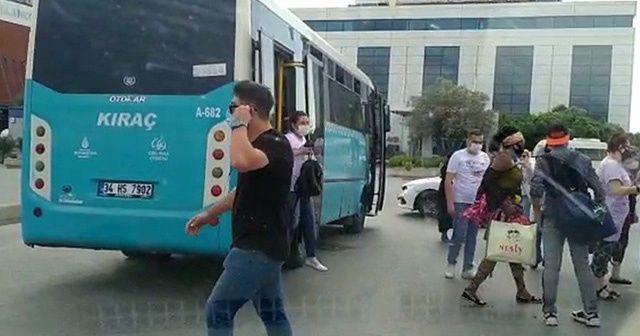 Uygulamadan kaçan otobüsten 40 yolcu çıktı
