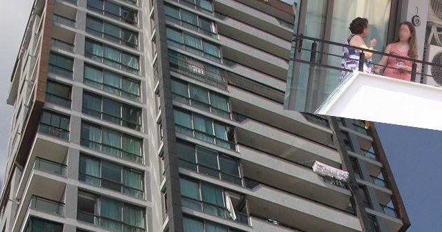 13. kattan düşüp öldü, komşuları balkonda kahve içti