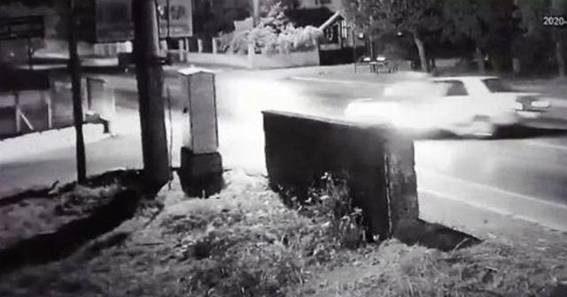 20 yaşındaki motosiklet sürücüsünün öldüğü kaza kamerada