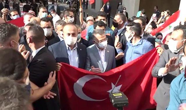 Beyrut'ta 'Cumhurbaşkanı Erdoğan' sesleri
