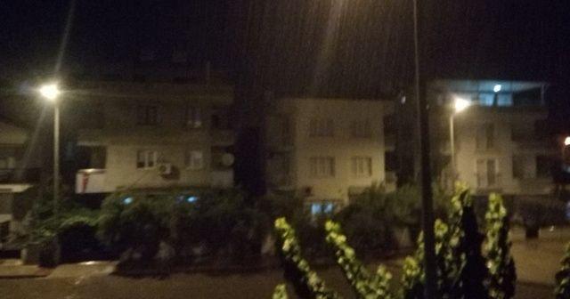 Didim'de Ağustos yağmuru etkili oldu