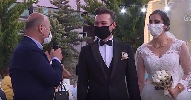 """İçişleri Bakanı Süleyman Soylu """"düğün salonu"""" denetimine katıldı"""