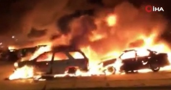 ABD'de Blake protestosunda onlarca araç ateşe verildi