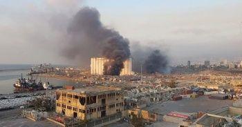 Beyrut'taki patlama anı kamerada