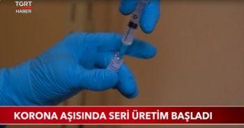 Korona aşısında seri üretim başladı