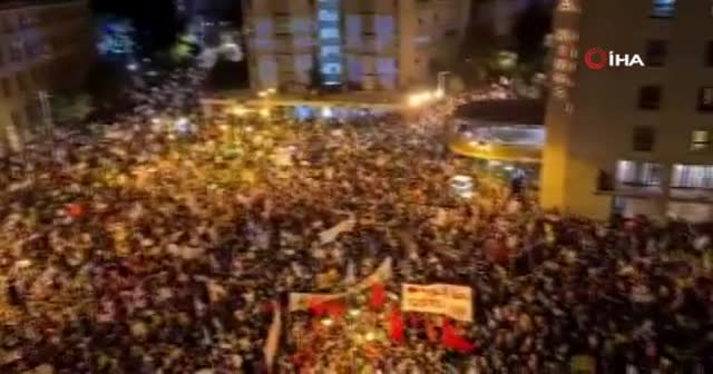 Netanyahu karşıtı gösteride 3 gözaltı