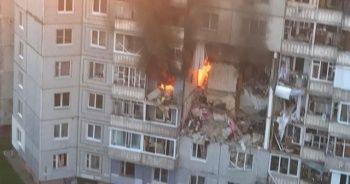 Rusya'da apartmanda doğal gaz patlaması