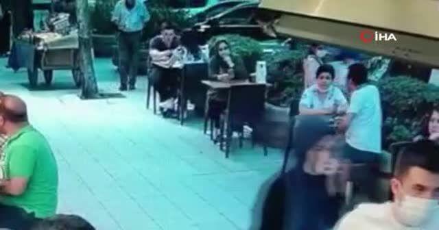 Ünlü baklavacıda çanta hırsızlığı kamerada