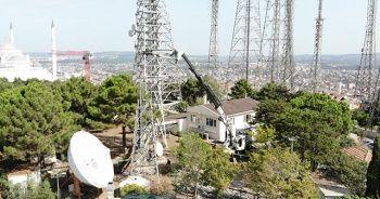 Çamlıca Tepesi'ndeki anten vericileri sökülmeye devam ediyor