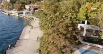Deprem sonrası Beykoz'daki parklar drone ile havadan görüntülendi