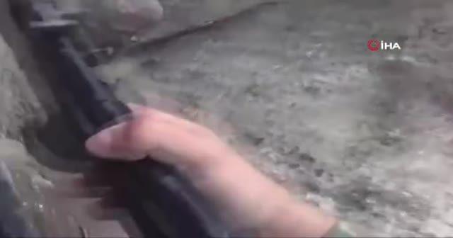 Ermeni askeri cephede ağladı