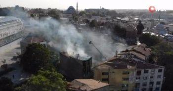 Fatih'te metruk binada korkutan yangın