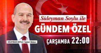 İçişleri Bakanı Süleyman Soylu, TGRT Haber Gündem Özel programına konuk oluyor