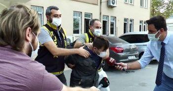 Polisi tehdit eden maskesiz şahıs adliyeye sevk edildi