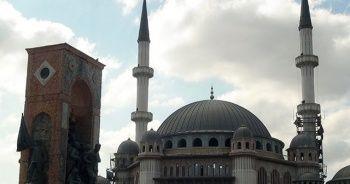 Taksim Camii'nin son hali havadan görüntülendi