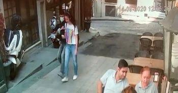 Taksim'de kapkaç kamerada