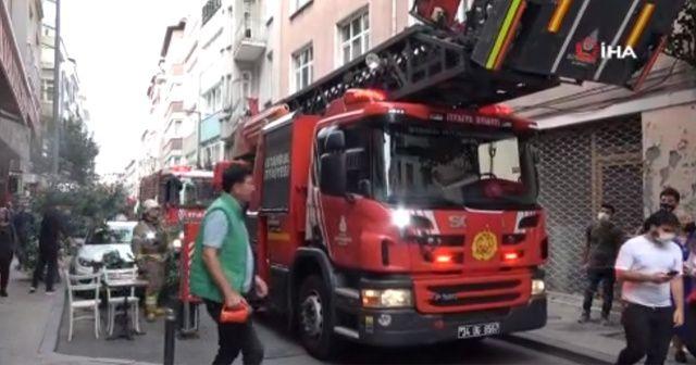 Şişli'de yangın paniği, vatandaşlar sokağa döküldü