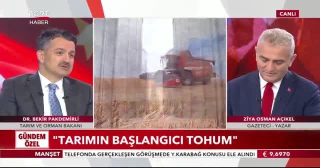 Bakan Pakdemirli: Tohum konusunda haksızlık yapılıyor