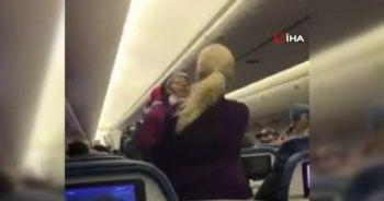 ABD'de yolcu uçağında maske takmadı, kabin görevlisine saldırdı