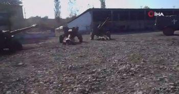 Ermeni askerleri silahlarını bırakıp kaçtı