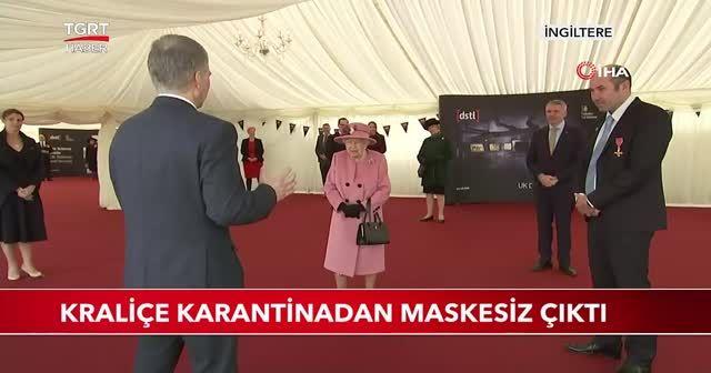 Kraliçe karantinadan maskesiz çıktı