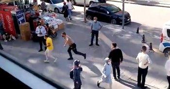 Maske takmayan şahıs ceza yememek için polisten kaçmaya çalıştı