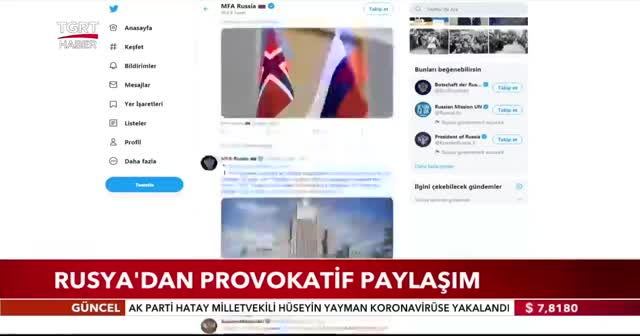Rusya'dan Türkiye hakkında provokatif paylaşım