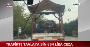 Trafikte tavlaya Bin 834 lira ceza