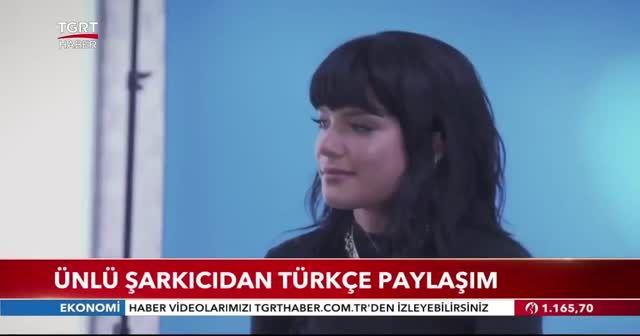 Ünlü şarkıcıdan Türkçe paylaşım