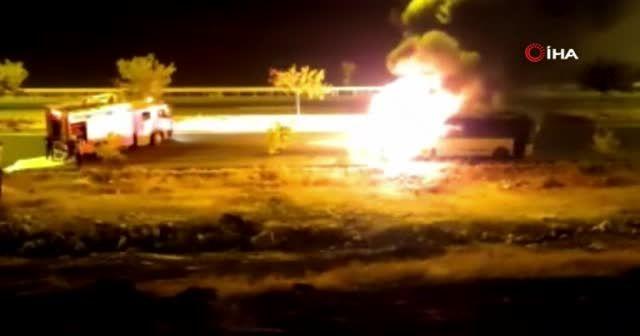 Yangına giden itfaiyeye sürücü engeli