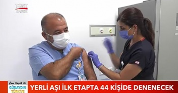 Yerli aşı ilk etapta 44 kişide denenecek