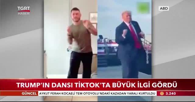 Trump'ın dansı Tiktok'ta büyük ilgi gördü