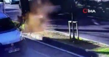 Enes Batur'un ölümden döndüğü kaza kamerada