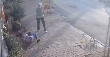 Engelli yaşlı kadın itip yere düşürdü