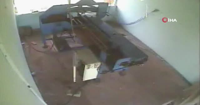 Fabrikadaki patlama anı kamerada