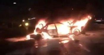 İstanbul'da zincirleme kazada bir araç alev aldı