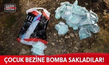 Teröristler çocuk bezine bomba sakladılar